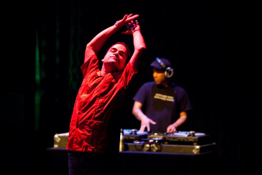 """Robert Farid Karimi moves to the music of DJ D Double in """"self (the remix)."""""""