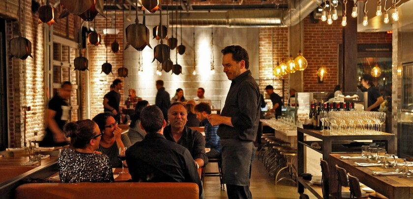 The restaurant is on the eastern edge of downtown in a former warehouse district.