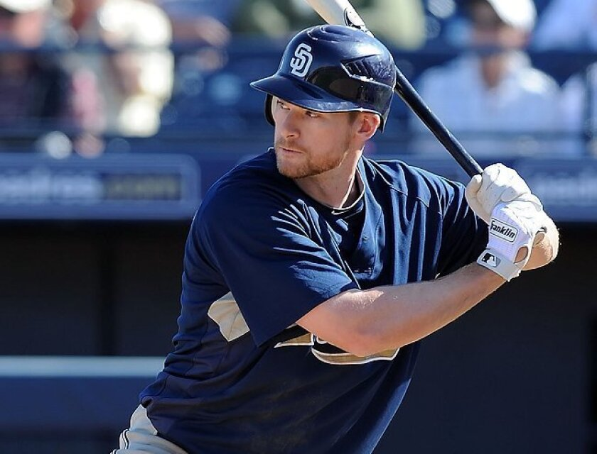 Chase Headley appears set to split time batting fourth for the Padres.
