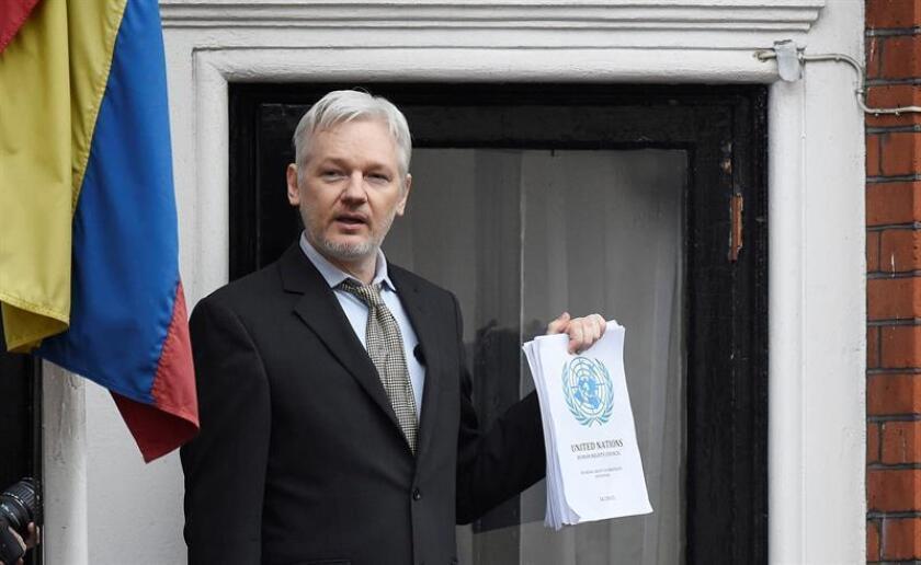 Fiscales en EE.UU. han imputado cargos al fundador de Wikileaks, el australiano Julian Assange, en un procedimiento secreto que se ha revelado por error, según publicó hoy The Washington Post. EFE/Archivo