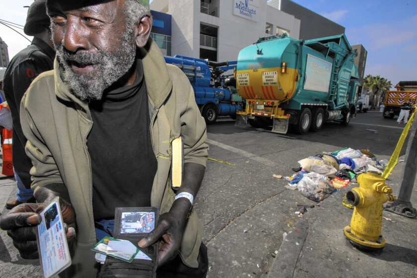 L.A. to expand homeless outreach on skid row