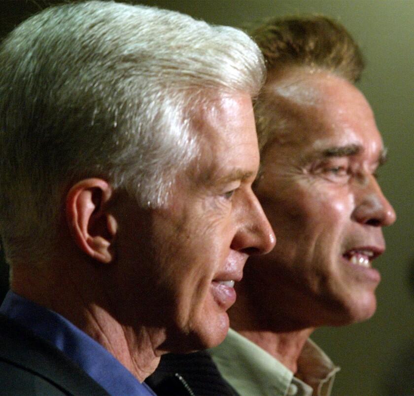 Davis and Schwarzenegger