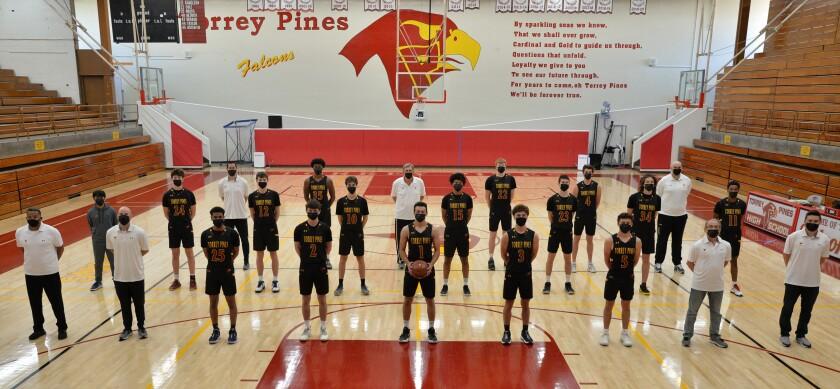Torrey Pines boys varsity team and coaching staff