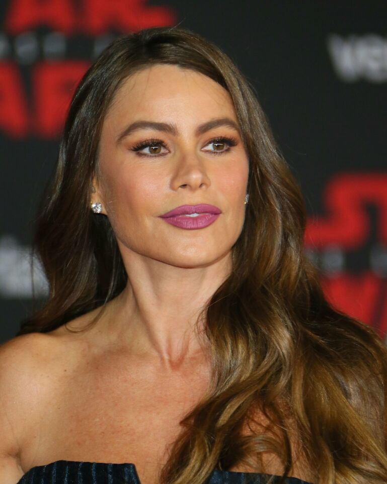 """Actress Sofia Vergara arrives for the premiere of Disney Pictures and Lucasfilm's """"Star Wars: The Last Jedi"""" at The Shrine Auditorium in Los Angeles on December 9, 2017. / AFP PHOTO / JEAN-BAPTISTE LACROIXJEAN-BAPTISTE LACROIX/AFP/Getty Images ** OUTS - ELSENT, FPG, CM - OUTS * NM, PH, VA if sourced by CT, LA or MoD **"""