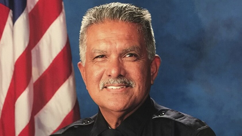 """Palm Springs Police Officer Jose """"Gil"""" Vega was due to retire in December after a 35-year career."""