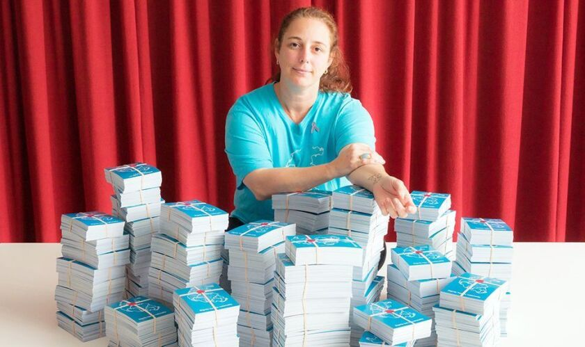 """Tania Bruguera with the piece """"The Francis Effect"""""""