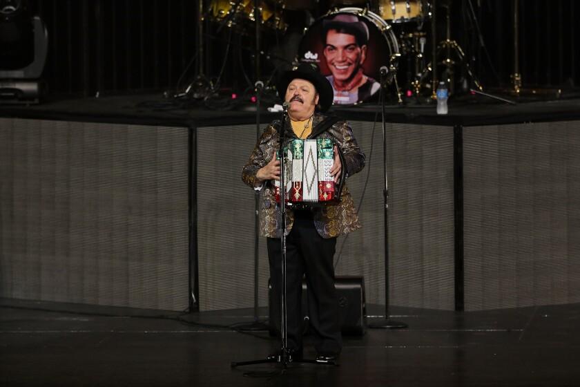 Ramon Ayala y sus Bravos Del Norte performs onstage during at Microsoft Theater on July 30, 2016 in Los Angeles, CA. (Art. Garcia/DDPixels.com)