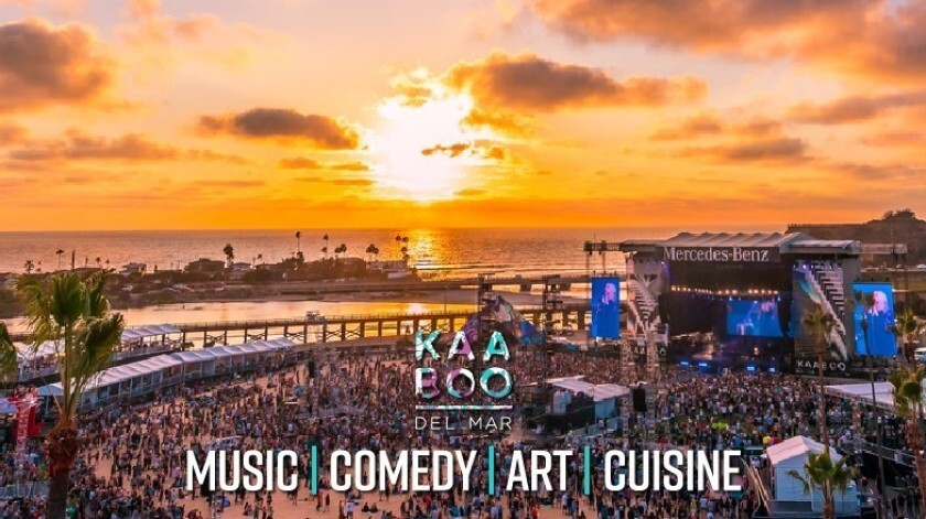 The KAABOO music festival returns to Del Mar on Sept. 13-15.