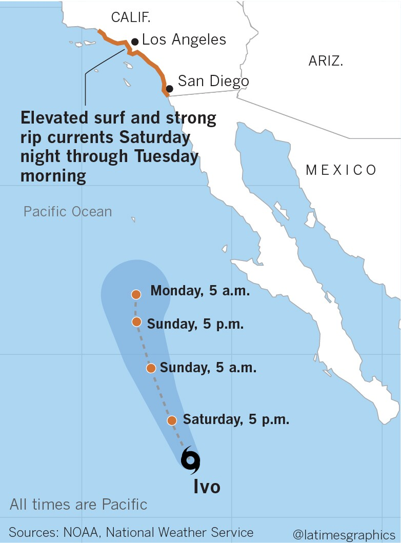 Big surf and hazardous swimming conditions at Southern California beaches this weekend