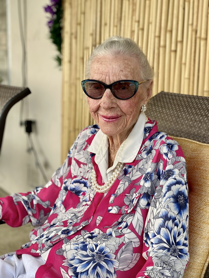 "La Jollan Virginia ""Gini"" Kebeck Clark turns 100 on Sept. 26."