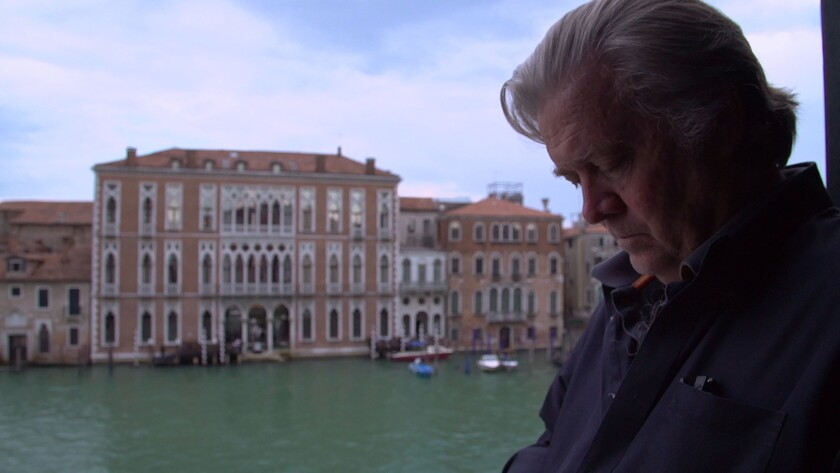 """Steve Bannon in """"THE BRINK,"""" a Magnolia Pictures release. Credit: Magnolia Pictures"""