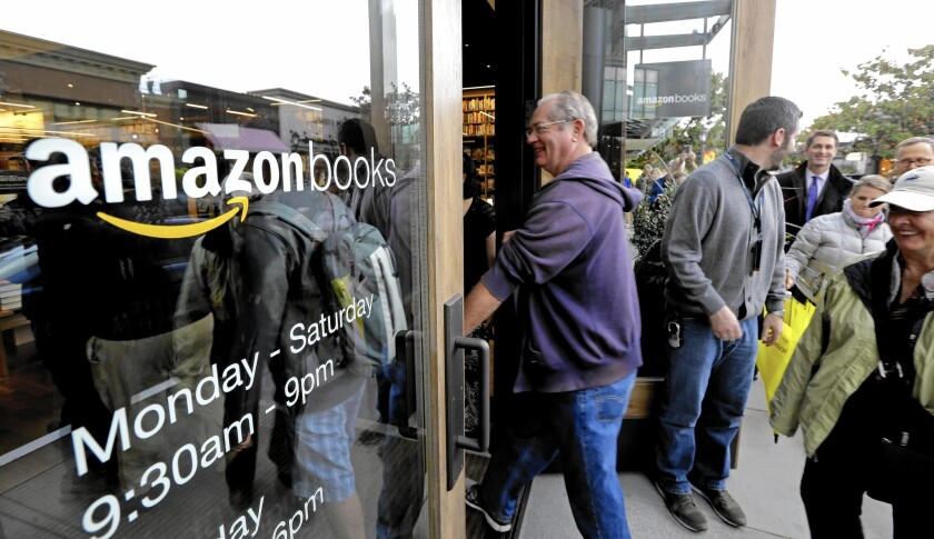Amazon opened its first brick-and-mortar retail store in Seattle in November.