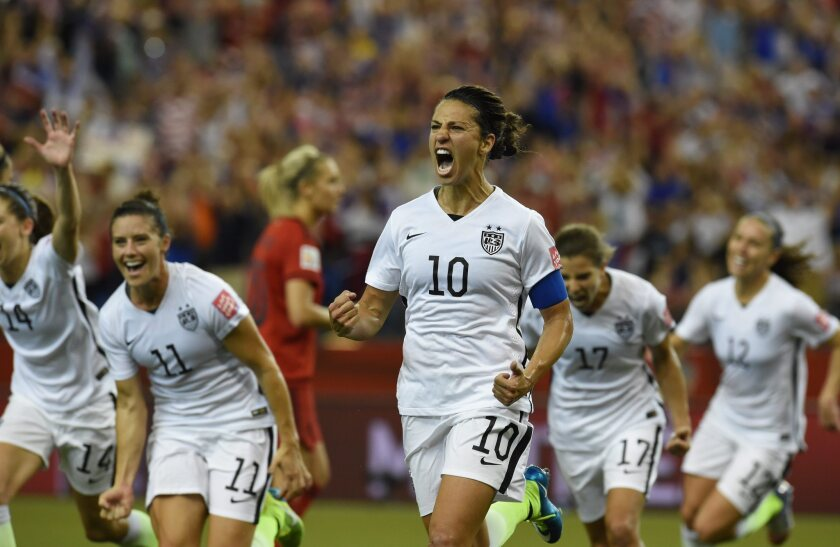 Carli Lloyd was a force for the U.S. during its World Cup championship run last year.