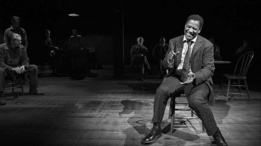 Denzel Washington in 'The Iceman Cometh' on Broadway.