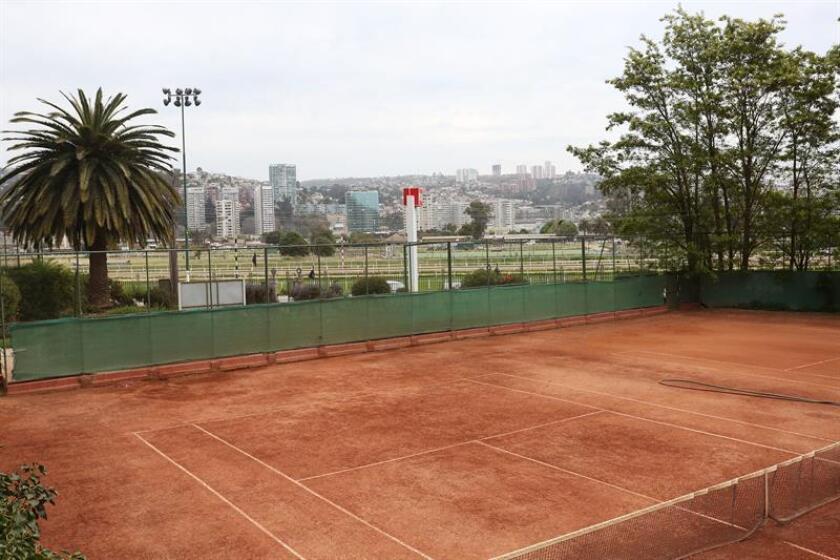 """Fotografía de las instalaciones del club """"Viña del Mar Lawn Tennis Club"""" en Viña del Mar (Chile). EFE/Archivo"""