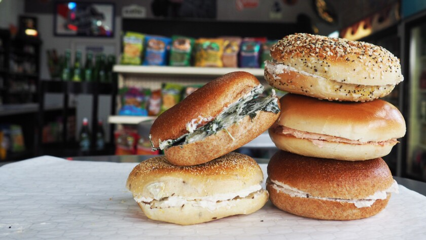 L A 's breakfast king is back with cacio e pepe cream cheese bagels