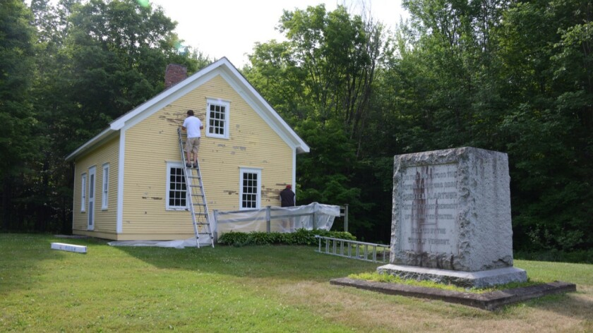 A replica of Chester A. Arthur's birth home marks a historic site in his honor in Vermont — part of an exhibition at the Center for Land Use Interpretation in Culver City.