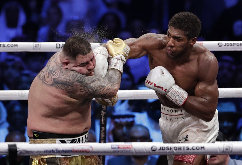 APTOPIX Saudi Arabia Boxing Ruiz Joshua
