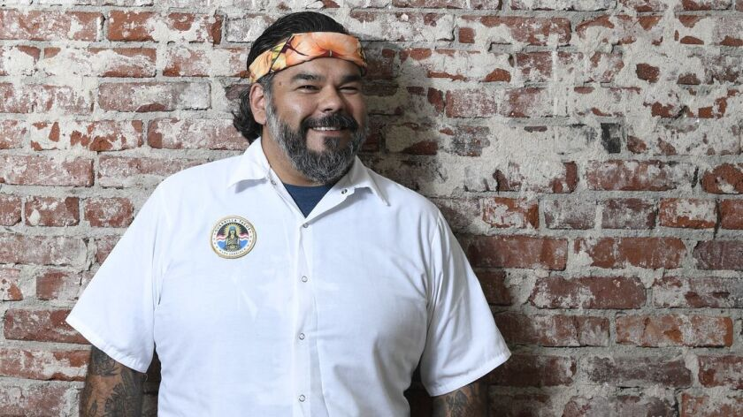 Chef Wes Avila from Guerrilla Tacos in Los Angeles, CA.