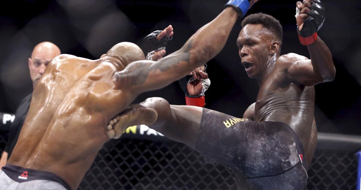 Adesanya dice que su entrenador le gritó '¡No te aburras!' durante su pelea ante Vettori en UFC 263 - Los Angeles Times