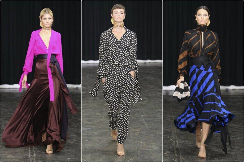 Juan Carlos Obando had colorful silk streamer dresses.