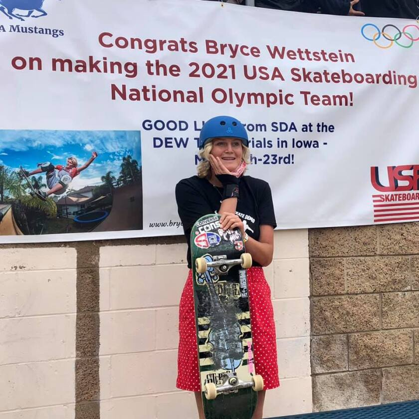 San Dieguito Academy High School student Bryce Wettstein is representing USA in skateboarding at the Olympics.