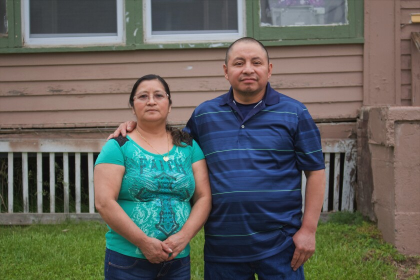 Paulina and Marcos Francisco bought their home in Sioux City, Iowa, after years of working in a meatpacking plant and other food processing jobs.