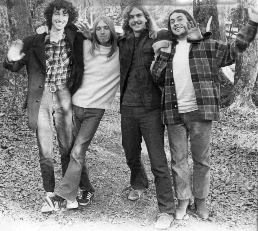 Mudcrutch in the early 1970s: Mike Campbell, left, Tom Petty, Tom Leadon and Randall Marsh. Benmont Tench isn't pictured.