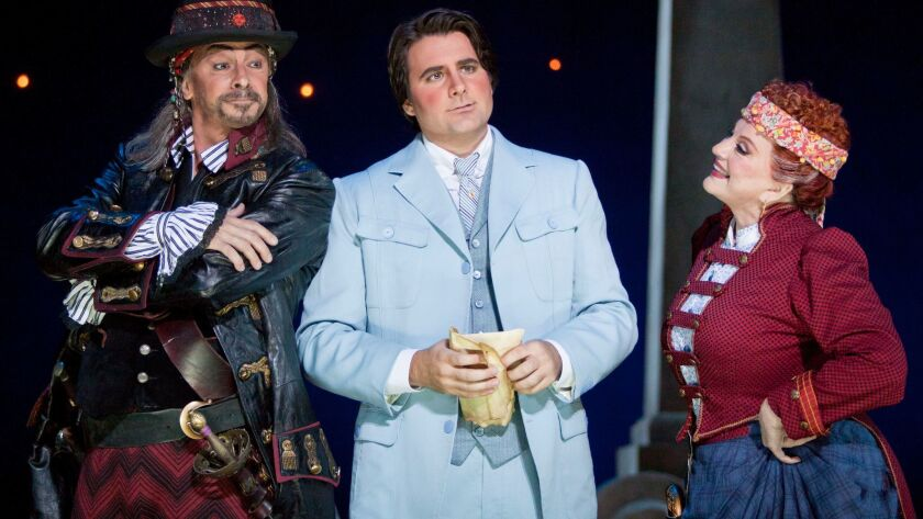 Bass-baritone Greer Grimsley is The Pirate King, tenor Mackenzie Whitney is Frederic, and mezzo-sopr
