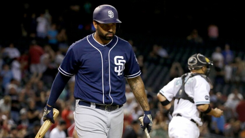 Outfielder Matt Kemp was hoped to be a building block who would help the San Diego Padres climb in the National League West standings. But the team has continued to struggle from one year to the next.