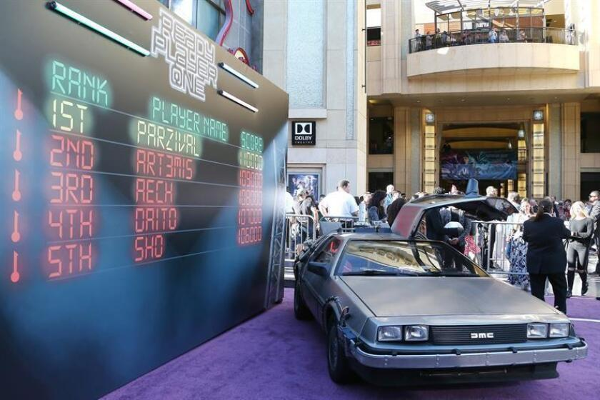 """Vista general durante la presentación mundial de la última película de Steven Spielberg """"Real Player One"""" en el Dolby Theater de Hollywood. EFE/Archivo"""