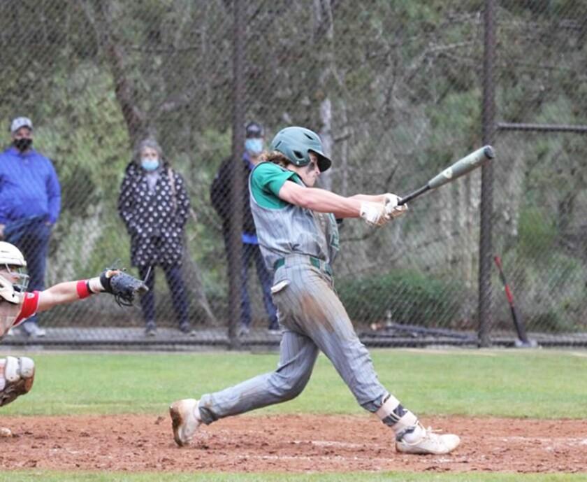 Ryan Kroepel in a Poway High baseball game.