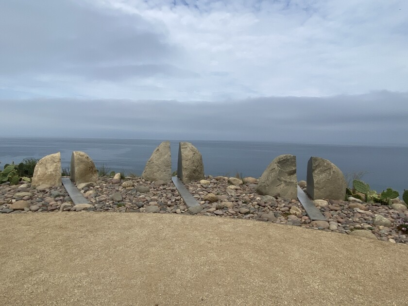 These rock formations are part of a UC San Diego memorial dedicated to people who donated their bodies to science.