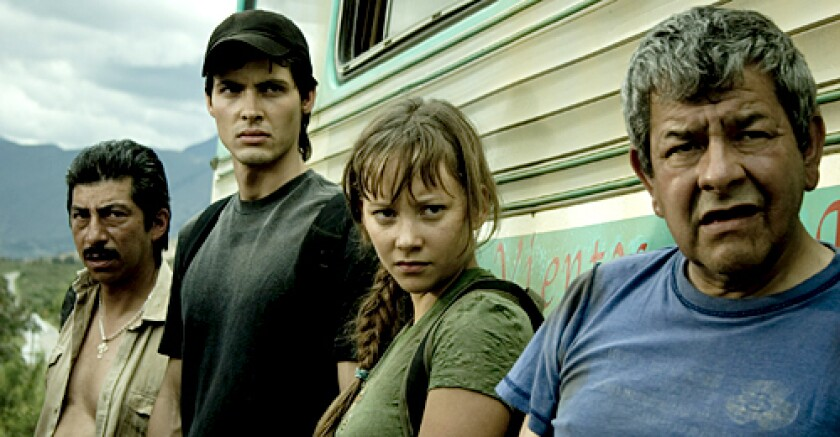'PARAÍSO TRAVEL': The film, featuring Aldemar Correa and Angélica Blandón, middle, is one of seven from Colombia that is screening at the festival.