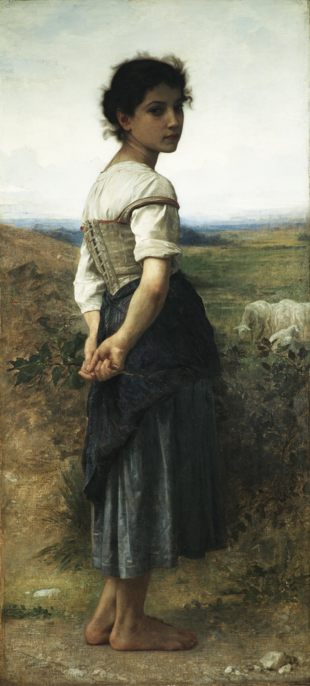 """""""Bouguereau & America"""" at the San Diego Museum of Art: """"The Young Shepherdess"""" 1885. Oil on canvas"""