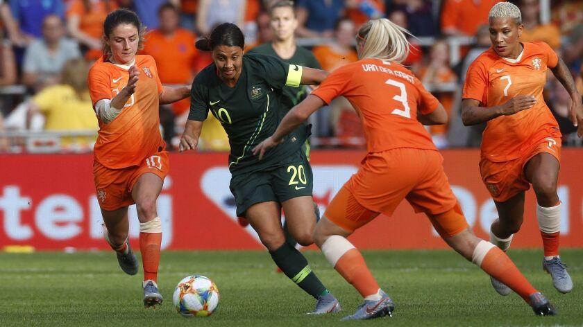 Netherlands vs Australia, Eindhoven - 01 Jun 2019