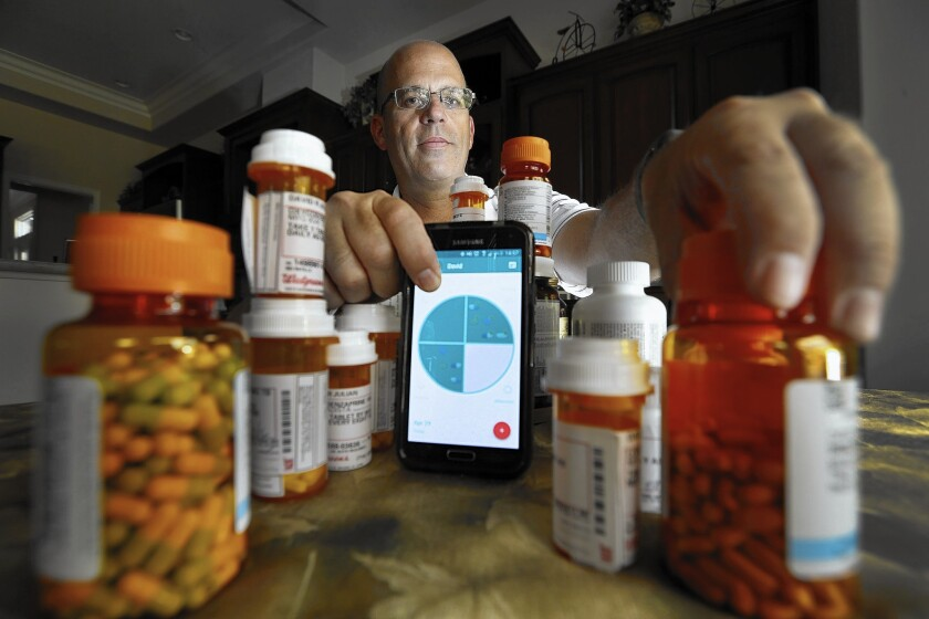 David Julian of Villa Park takes 26 different medications each day, most of which help to manage his epilepsy. He has missed doses before, which has put him in medical danger. As a result, he began using an app called MediSafe. It's designed to help people manage and stick to their medications.