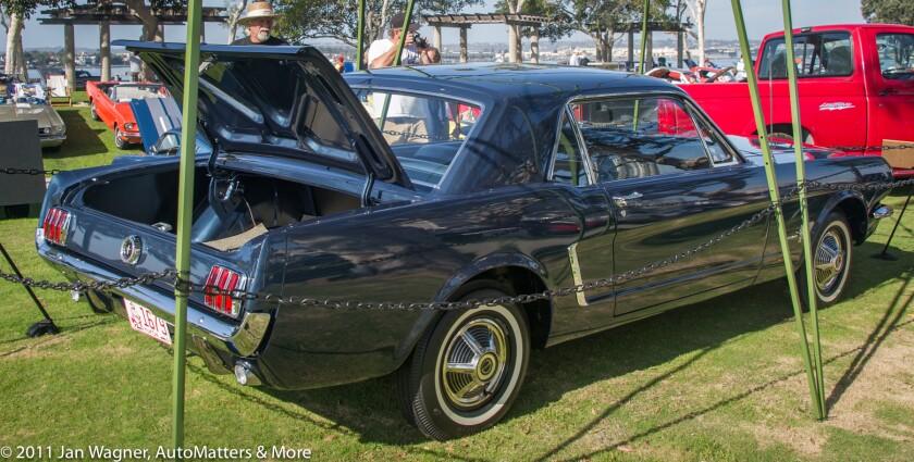 Bob's Caspian Blue Mustang hardtop