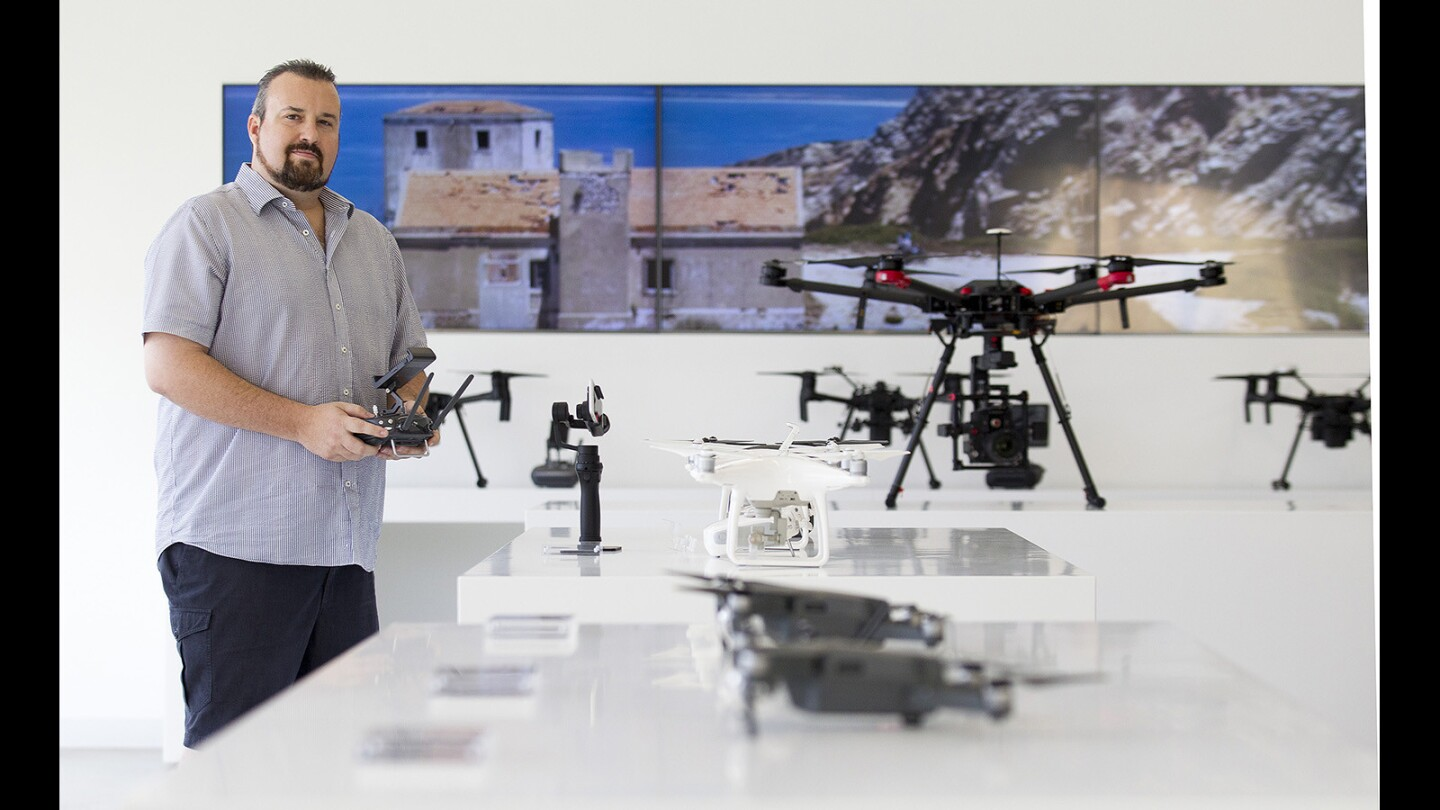 Patrick Smith is the owner of the new DJI store in Costa Mesa. Photo taken on Friday, Oct. 20.