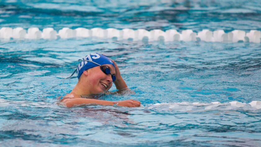 San Diego High's Julianna Natale won the Division I 100-yard freestyle last year as a freshman in 52.82.