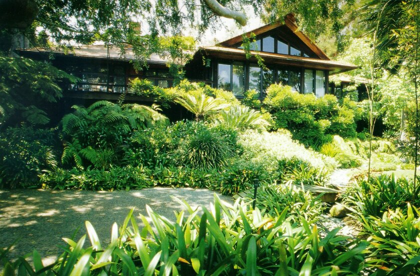 The Kunzel house, as seen in this 1995 photo, was published in Sunset magazine and led to Mosher's sabbatical at House Beautiful magazine and an extended interview with Frank Lloyd Wright.