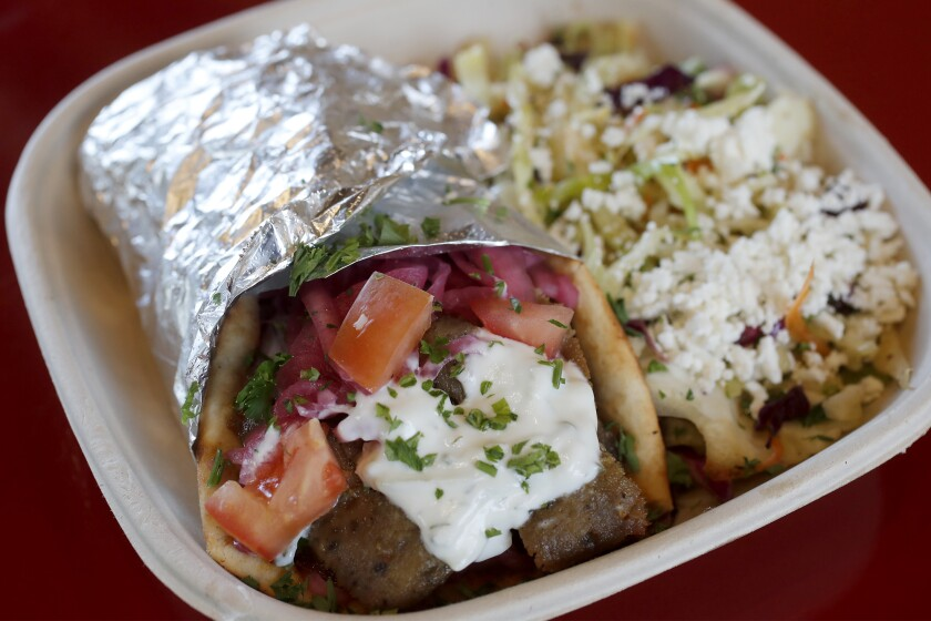 The Little Greek at Tustin's Mess Hall Market
