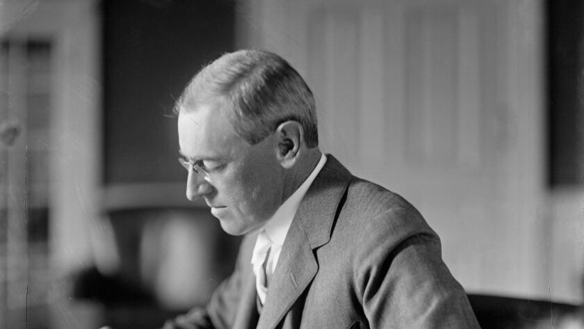 Op-Ed: 100 years ago, Woodrow Wilson fanned the flames of hate just like Trump