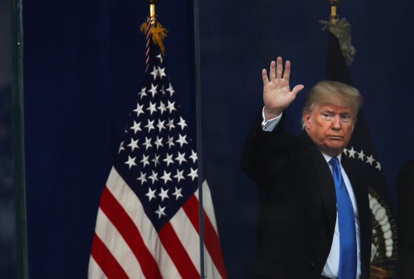 President Trump attends New York's Veterans Day parade.