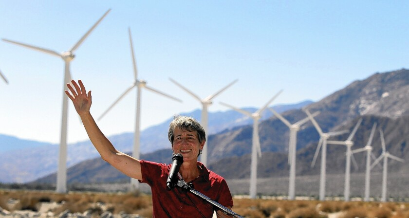 Interior Secretary Sally Jewell unveils a plan that would allocate most of the Southern California desert and inland valleys for renewable energy while setting reserves where land and animals are protected.