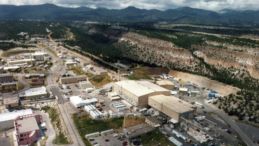 This undated aerial photo shows the Los Alamos National laboratory in Los Alamos, N.M. The federal a