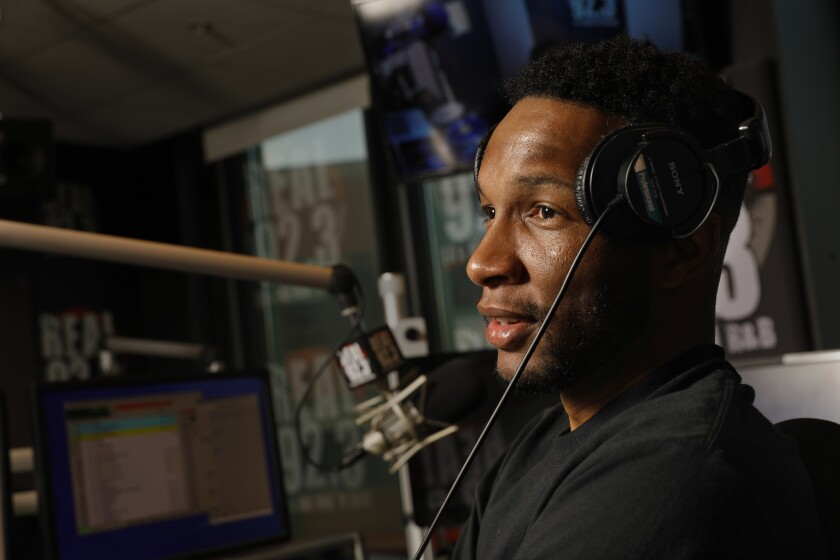 BURBANK, CALIFORNIA--APRIL 6, 2019--Charles Dorsey, Dizzle, started Home Grown Radio in the early 20