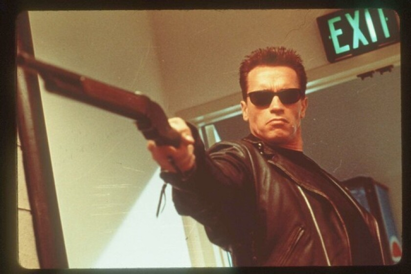 "Arnold Schwarzenegger in ""The Terminator"" (1984.)"
