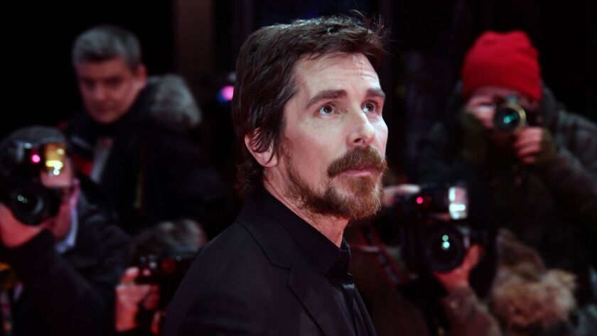 "Christian Bale at the Berlinale film festival in February. He'll play Enzo Ferrari in the upcoming James Mangold film ""Ford vs. Ferrari."""