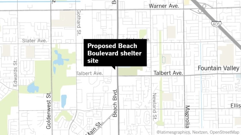 Proposed Beach Boulevard shelter site